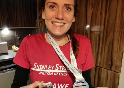 Katie is the first lady finisher at Irwell Valley 20 miler 2020