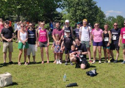 Furzton relay 2021 family photo
